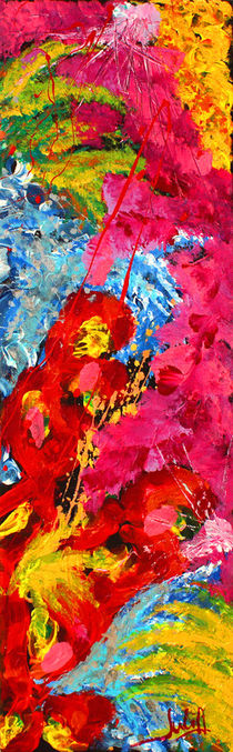 Floral Abstract 1 by Julia Fine Art