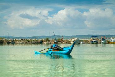 Shining-blue-boat