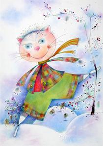 ABC die Katze lief im Schnee by poesie-in-farbe