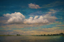Wolken über der Elbe von pahit