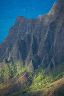 View of Na Pali coast from Waimea Canyon State Park near Waimea on the western side of Kauai Island, Hawaii, USA by Wolfgang Kaehler