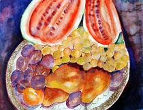 Teller mit Früchten by Irina Usova