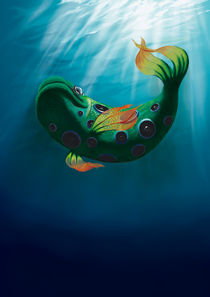 Music fish - painting by Tomáš Kruták