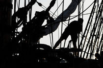 Sillhouette of a sailor on a tall ship by Intensivelight Panorama-Edition