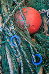 Red buoy and green nets by Intensivelight Panorama-Edition