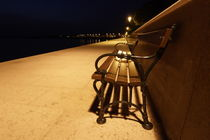 Bench at the sea - night time by Intensivelight Panorama-Edition