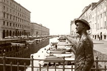 James Joyce in Trieste - monochrome by Intensivelight Panorama-Edition