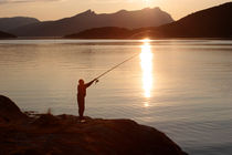 Fishing at sunset von Intensivelight Panorama-Edition