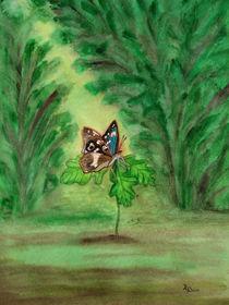 Sommerlandschaft mit Schmetterling (summer landscape and butterfly) von Dagmar Laimgruber