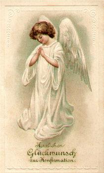 Konfirmation - Engelbild Vintage von Marita Zacharias