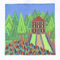 Houses in the Woods (Triangles) by Tasha Goddard