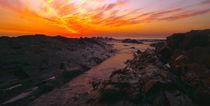 seascape - sunset rocks von Mike Kaplan