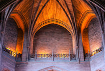 Impressive arched ceiling inside Liverpool Cathedral by illu