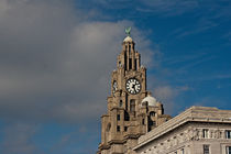 Liver Buildings on Liverpool waterfront by illu