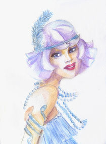 Roaring 20s girl watercolor by Jera RS