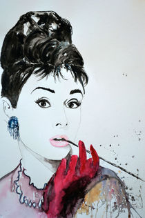 Audrey Hepburn by Ismeta  Gruenwald