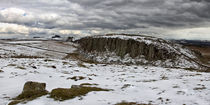 Peel Crags in Winter von David Pringle