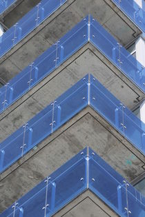 Blue balconies by Mircea Nicolescu