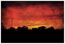 Firery Sunset. by rosanna zavanaiu