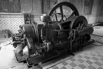 OLD DIESEL MOTOR  Yaxcopoil Mexcio by John Mitchell