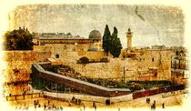 Western Wall,Temple Mount, Jerusalem, Israel. Photo in old color image style by Serhii Zhukovskyi