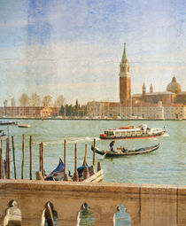 Grand Canal in Venice, Italy, artwork in painting style von Serhii Zhukovskyi
