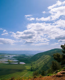 Mount Gilboa king Saul view from the top to the valley of Israel von Serhii Zhukovskyi