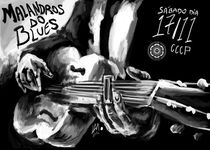 Blues band poster von Lucas Alcantara