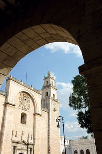 MERIDA CATHEDRAL Mexico by John Mitchell