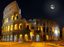 The Colosseum, Rome.  Night view by ivantagan