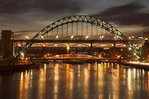 Dusk over the Tyne by Martin Williams