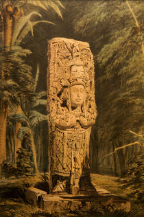 Idol at Copan von John Mitchell