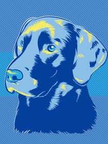 Labrador Dog Pop Art Style von Geoff Leighly