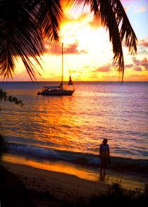 Sonnenuntergang auf der Karibikinsel St. Lucia by Manfred Koch