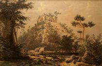 El Castillo at Chichen Itza by Frederick Catherwood von John Mitchell