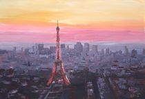 Paris, Eiffelturm im Sonnenuntergang by M.  Bleichner