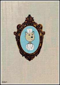 Paramedic Bear poster von meri-misljen
