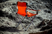 No Ones  Beach Chair by Larisa Kroshkin