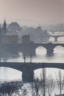vernebelter Blick über die Moldau by Anne-Barbara Bernhard