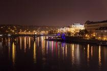 Prag bei Nacht von Anne-Barbara Bernhard