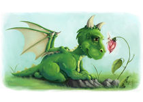 Fairy Gossip - Drache & Fee by Alexandra Knickel