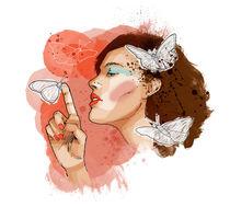 Hush Butterfly von Carina Crenshaw