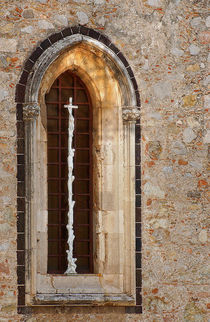 Crucifixion window by JACINTO TEE