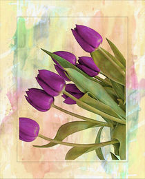 Painterly Tulips von rosanna zavanaiu