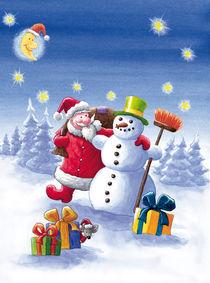 Der Weihnachtsmann + der Schneemann von Axel Dissmann
