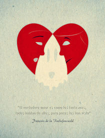 True love is like ghosts - Spanish Graphic Quote by Hey Frank!