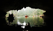 Canoeing in Ha Long Bay. by Tom Hanslien