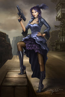 Steampunk Pirate Lady by Jack Moik