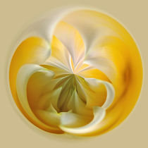 Yellow Dahlia Orb von Kaye Menner