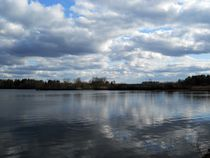 lake in early spring by Wolfgang Schweizer